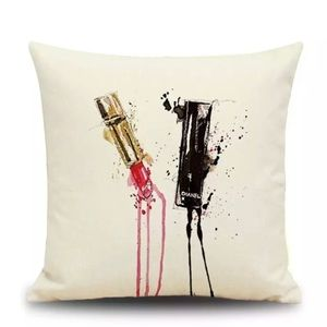 Other - SALE!!Designer Chanel Lipstick Accent Pillow